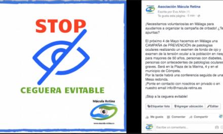 """Horario y autobuses Campaña """"Stop Ceguera evitable"""" Axarquía 4 de Mayo"""