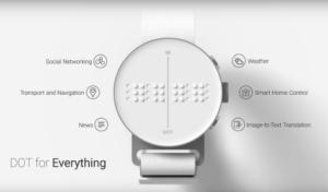 El reloj inteligente Dot Watch