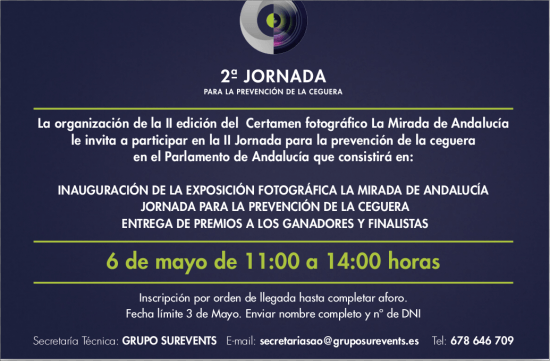 Parlamento Andalucía: II Jornada Prevención de la ceguera