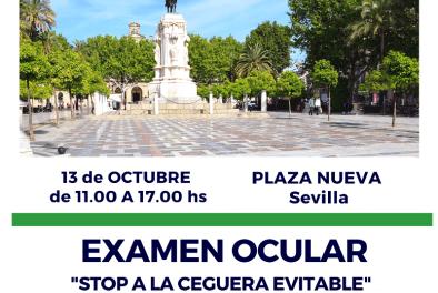 Día Mundial de la Visión: exámenes oculares en Plaza Nueva de Sevilla