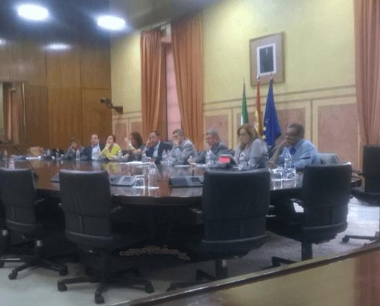 Asociación Mácula Retina en Parlamento de Andalucía