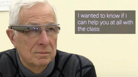 Las gafas de Google pueden convertir voz en texto legible