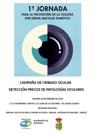 Jornada de Cribado ocular en Santiponce (Sevilla)