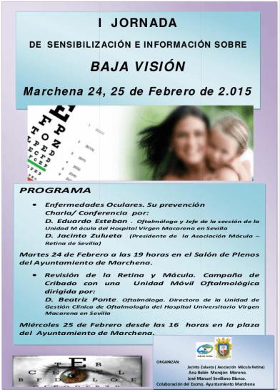 Charla coloquio en Marchena sobre Baja Visión y patologías oculares
