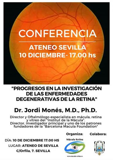 Conferencia sobre las enfermedades degenerativas de la retina
