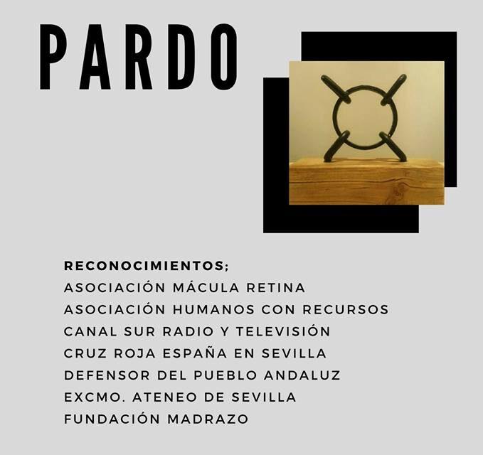 El escultor Frank J. Pardo premia a Mácula Retina