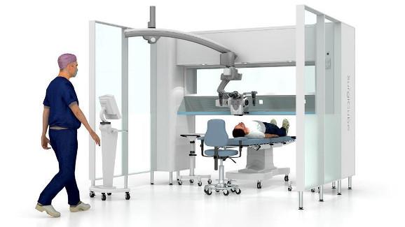 Surgicube, área estéril para inyecciones intravítreas