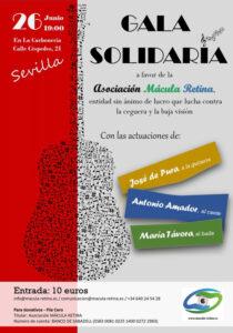 Cartel Gala Solidaria Mácula Retina