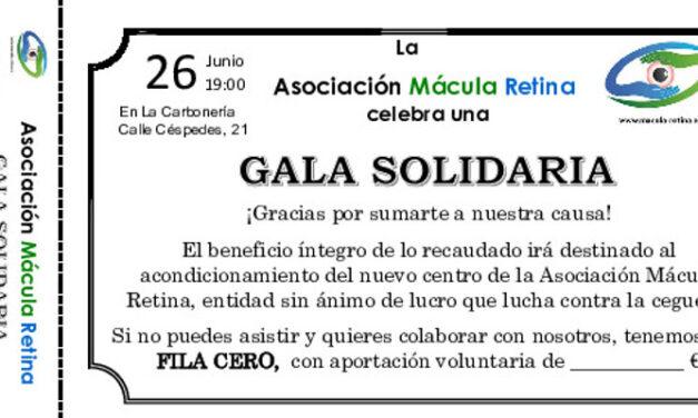 26 de Junio: Gala solidaria Asociación Mácula Retina en La Carbonería de Sevilla