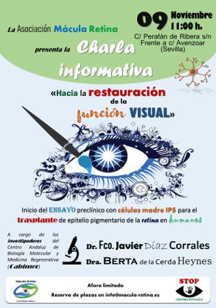 Póster Charla Asociación Mácula Retina y Cabimer