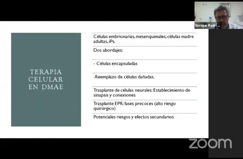 Diapositiva terapia celular en DMAE